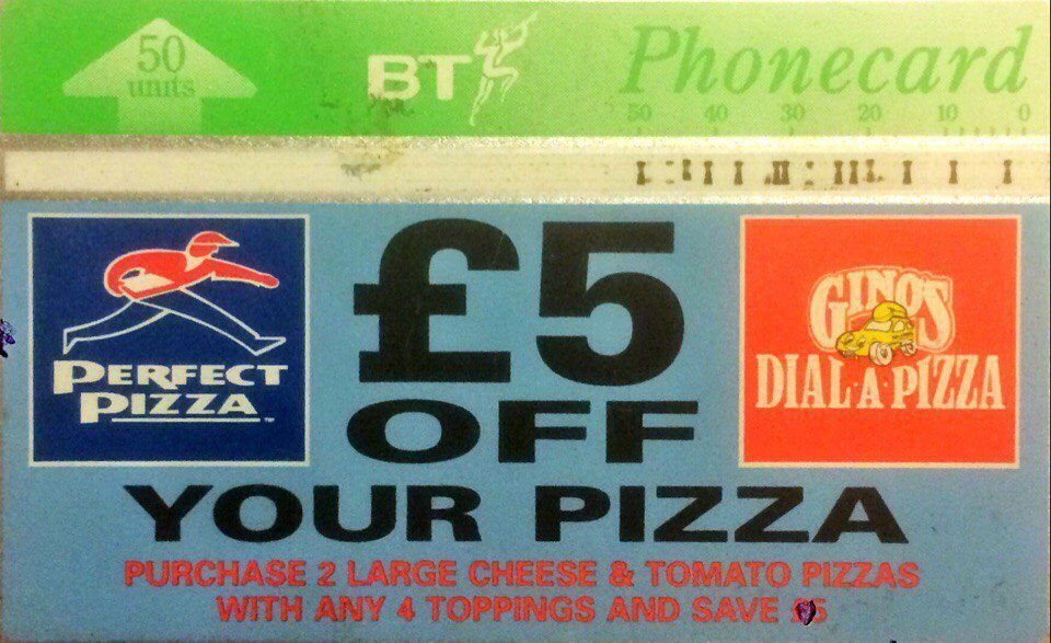 ₣5 off your pizza